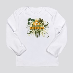 Palm Tree Aruba Long Sleeve Infant T-Shirt