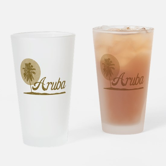 Palm Tree Aruba Pint Glass