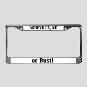 Asheville or Bust! License Plate Frame