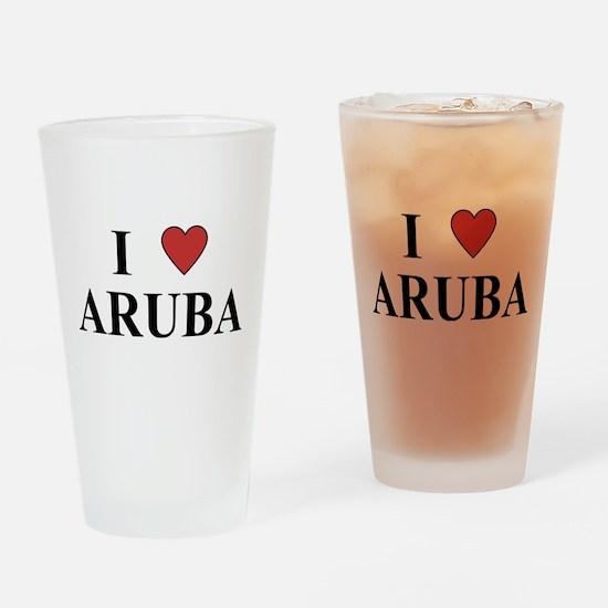 I Love Aruba Pint Glass