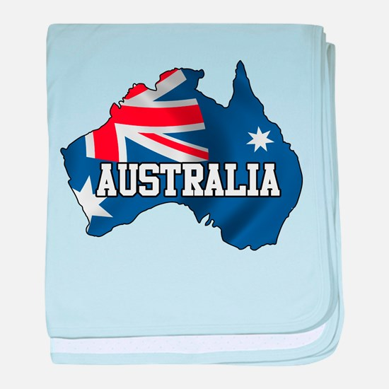Map Of Australia baby blanket