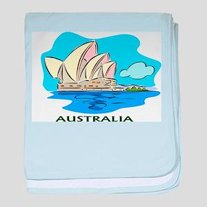 Australia Sydney Opera House baby blanket