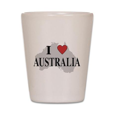 I Love Australia Shot Glass