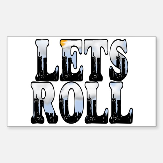 Twin Towers LETS ROLL Rectangle Decal