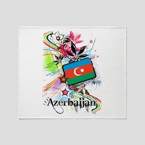 Flower Azerbaijan Throw Blanket