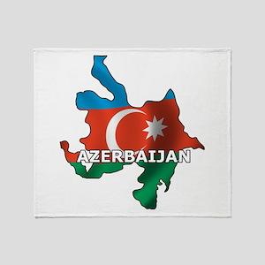 Map Of Azerbaijan Throw Blanket