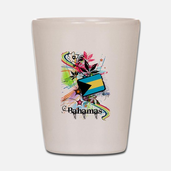 Flower Bahamas Shot Glass