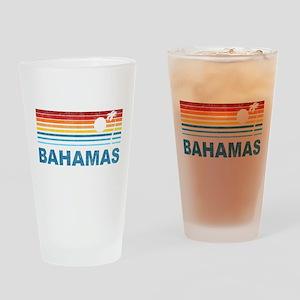 Retro Bahamas Palm Tree Pint Glass