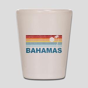 Retro Bahamas Palm Tree Shot Glass