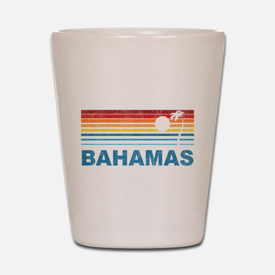 Retro Bahamas Palm Tree Shot Glass