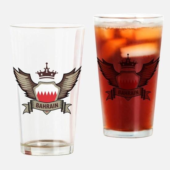 Bahrain Emblem Pint Glass