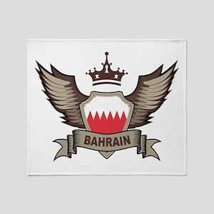 Bahrain Emblem Throw Blanket