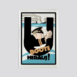 U-Boats Out War Poster Rectangle Magnet