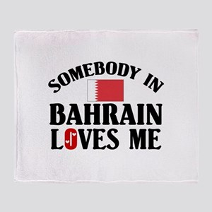 Somebody In Bahrain Throw Blanket