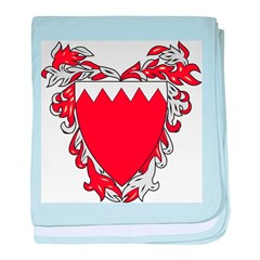 Bahrain Coat Of Arms baby blanket