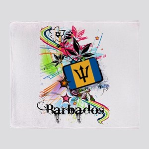 Flower Barbados Throw Blanket