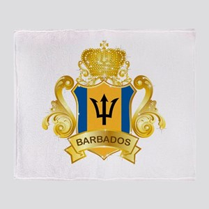 Gold Barbados Throw Blanket