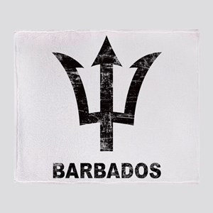 Vintage Barbados Throw Blanket
