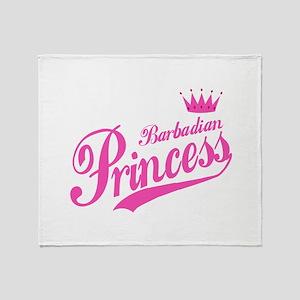 Barbadian Princess Throw Blanket