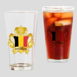 Gold Belgium Pint Glass