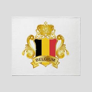 Gold Belgium Throw Blanket