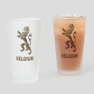 Vintage Belgium Pint Glass