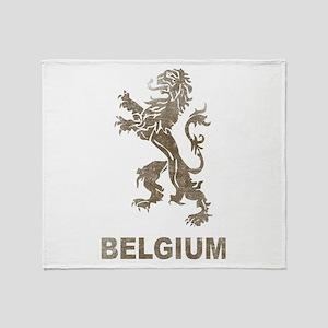 Vintage Belgium Throw Blanket