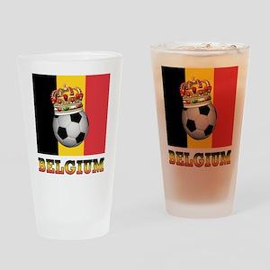 Belgium Football Pint Glass
