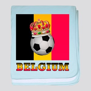 Belgium Football baby blanket