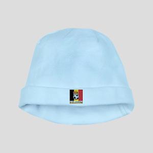 Belgium Football baby hat