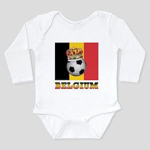 Belgium Football Long Sleeve Infant Bodysuit