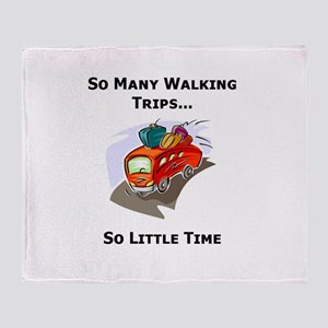 So Many Walking Trips Throw Blanket