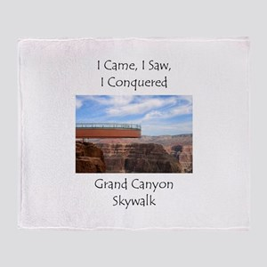 Grand Canyon Skywalk Survivor Throw Blanket