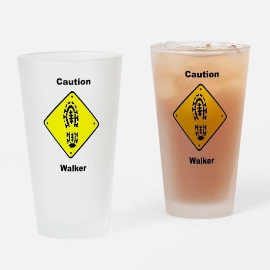 Caution Walker Pint Glass