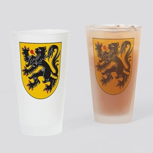 Flanders Coat Of Arms Pint Glass