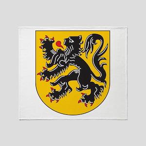 Flanders Coat Of Arms Throw Blanket