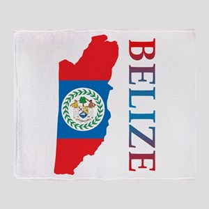 Map Of Belize Throw Blanket