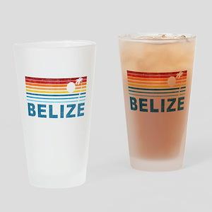 Retro Belize Palm Tree Pint Glass