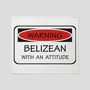 Attitude Belizean Throw Blanket