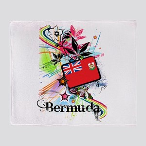 Flower Bermuda Throw Blanket
