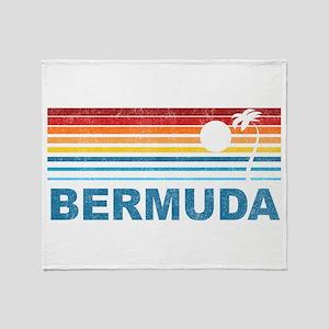Palm Tree Bermuda Throw Blanket
