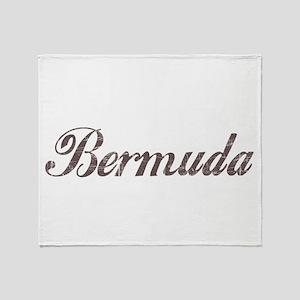 Vintage Bermuda Throw Blanket