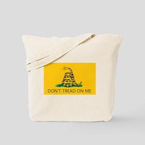 Don't Tread On Me (Gadsden Flag) Tote Bag