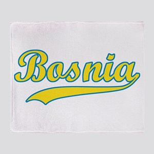 Retro Bosnia Throw Blanket