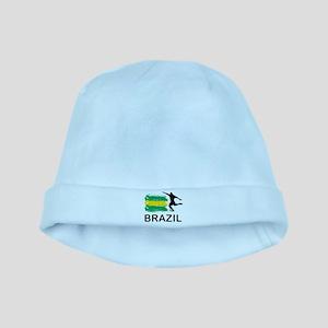 Brazil Football baby hat