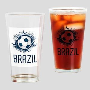 Hip Brazil Football Pint Glass