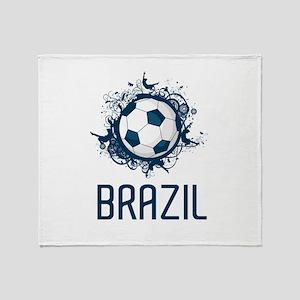 Hip Brazil Football Throw Blanket