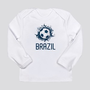 Hip Brazil Football Long Sleeve Infant T-Shirt