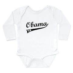 Obama 2012 Swish Long Sleeve Infant Bodysuit