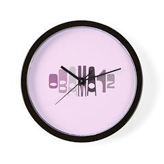 Obama12 Oval (purple) Wall Clock
